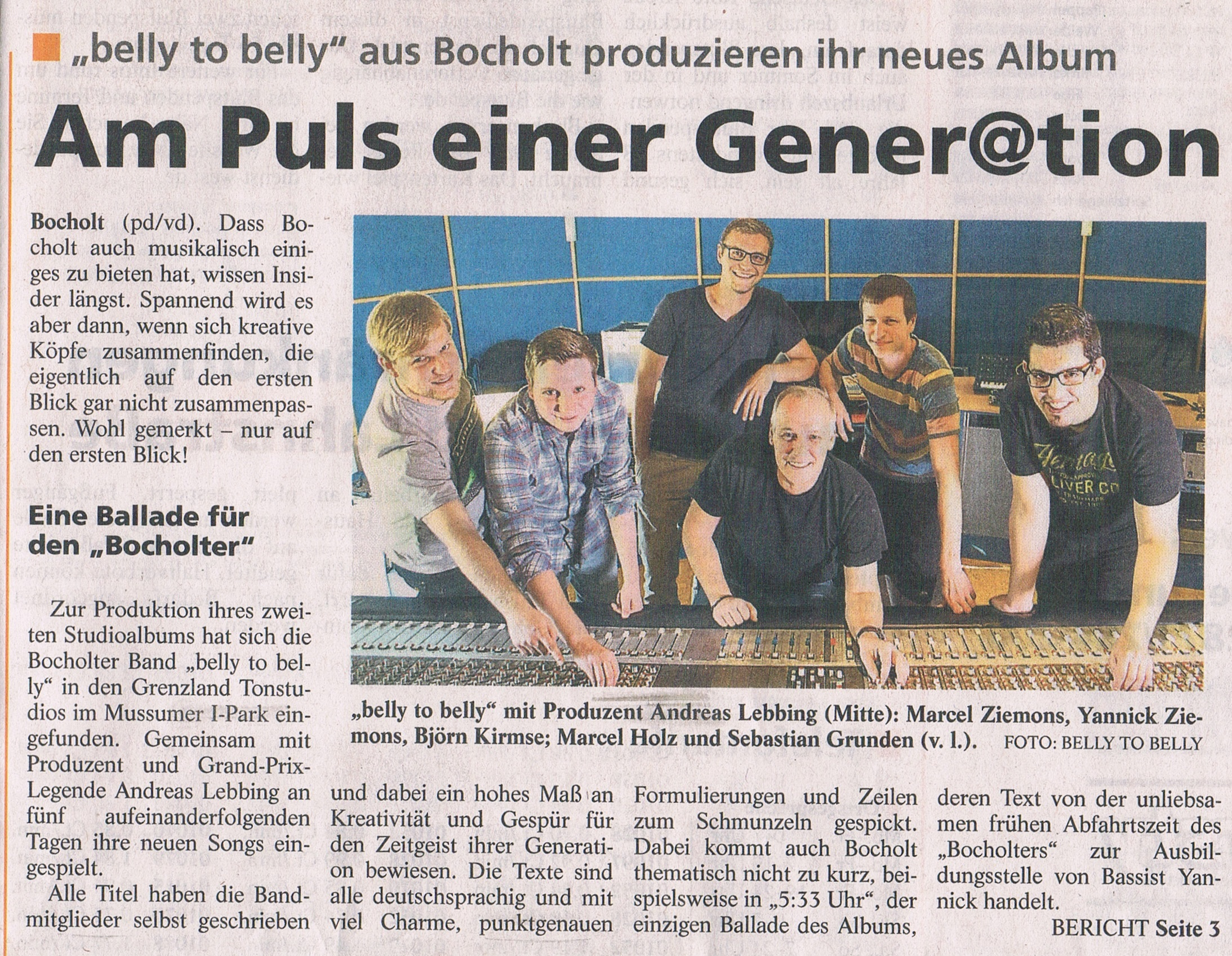 Presse & Medien – belly to belly